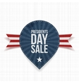 Presidents Day Sale Label and Ribbon vector image vector image