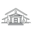 private house or mansion real estate isolated vector image vector image