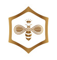 queen bee logo design on white background vector image vector image
