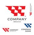 race logo speed flag emblem shape modern simple vector image vector image