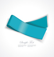 Realistic blue silk ribbon vector image