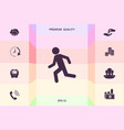 running man run icon graphic elements for your vector image vector image