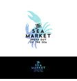 seafood restaurant logo crab vintage style vector image vector image