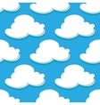 seamless pattern sky and white clouds vector image