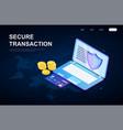 secure global online transaction concept vector image