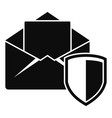 secured mail icon simple style vector image vector image