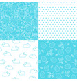 set of seamless easter patterns for festive design vector image vector image