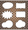 set speech bubble vector image vector image