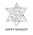 shavuot holiday flat design black thin line icons vector image vector image