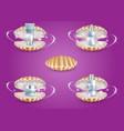 skin care cosmetic seashells realistic vector image vector image