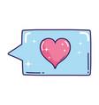 Speech bubble with heart love