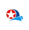 star logo america emblem vector image vector image