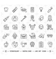 stomatology icon dental care logo dentistry thin vector image vector image