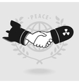 Symbol Shaking Truce vector image vector image