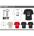 t shirt design with hammer and nail vector image vector image