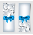 Valentines day Abstract cards with paper hearts vector image vector image