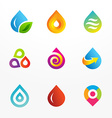 Water drop symbol logo icon set vector image