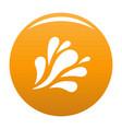 wave splash icon orange vector image vector image