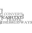 ways to convert your traffic into cash text word vector image vector image