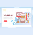 web design developing websites interface vector image