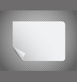 white paper sheet on transparent background vector image vector image