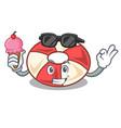 with ice cream swim tube character cartoon vector image vector image