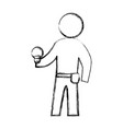 worker man silhouette vector image vector image