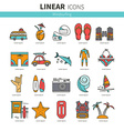 Icon set windsurfing vector image