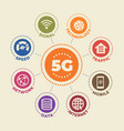 5g concept with icons and signs vector image vector image