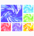 Abstract light vortex different colors vector image vector image