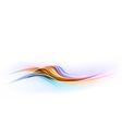 abstract shape blue orange wave dis vector image vector image