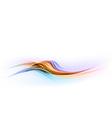 abstract shape blue orange wave dis vector image