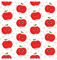 Apples seamless pattern vector image vector image