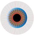 bloodshot eye vector image vector image