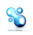 blue fluid concept vector image vector image