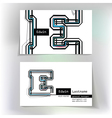 Business card design with letter E vector image