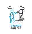 business support concept outline icon linear vector image vector image