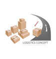 cardboard box ready for delivery and shipping vector image
