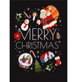 christmas cards with simple cute vector image