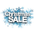 Christmas sale background with snowflakes vector image vector image