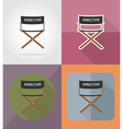 cinema flat icons 02 vector image