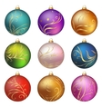Colorful christmas balls vector image vector image