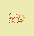 combine icons harvester signs symbol vector image vector image