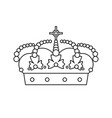 crown concept line icon line icon isolated vector image