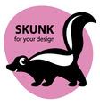 Cute skunk vector image vector image