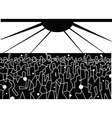 dancing people - abstract vector image vector image