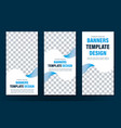 design of vertical white web banners with wavy vector image
