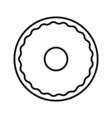 Donut outline icon vector image vector image