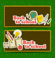 education horizontal banners vector image vector image