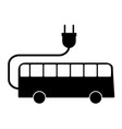 electric bus sign vector image
